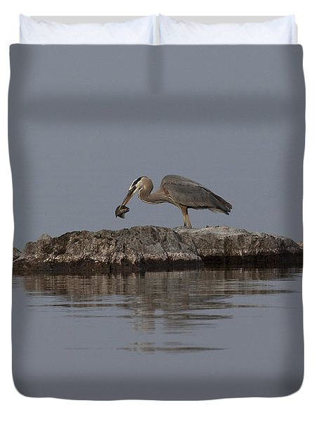 Caught One Duvet Cover by Eunice Gibb