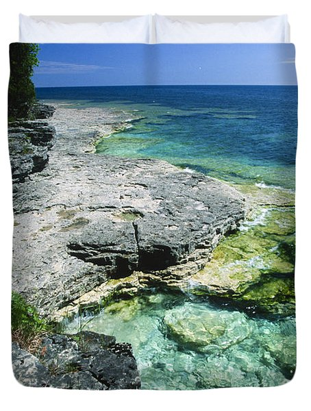 Cave Point Vista Duvet Cover