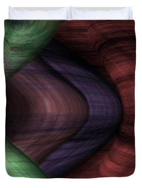 Caverns Of Wonder Duvet Cover by Christopher Gaston