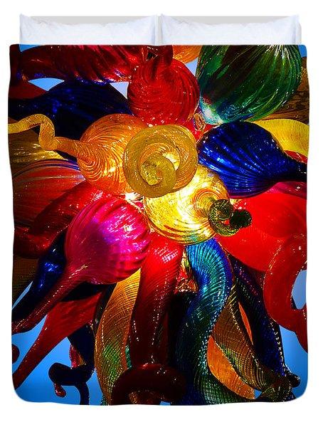 Celestial Glass 7 Duvet Cover by Xueling Zou