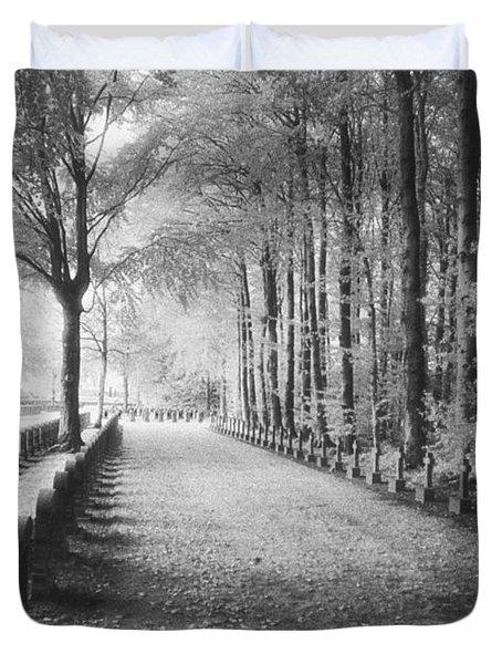 Cemetery At Ypres  Duvet Cover by Simon Marsden