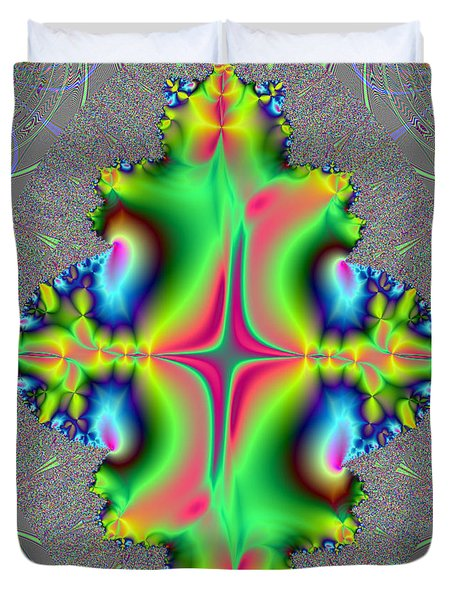 Duvet Cover featuring the digital art Center Of Attention by Ester  Rogers