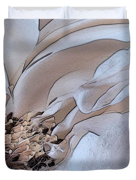 Centerfold Duvet Cover by Susan Smith