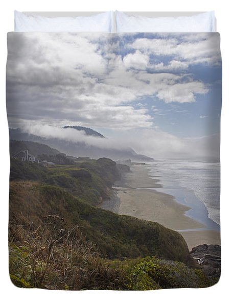 Central Oregon Coast Vista Duvet Cover by Mick Anderson
