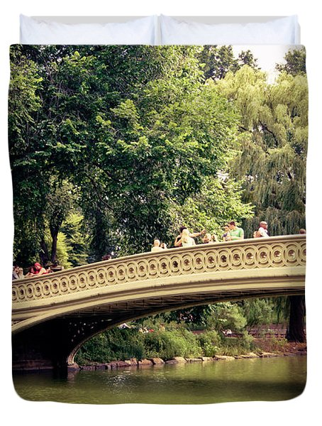 Central Park Romance - Bow Bridge - New York City Duvet Cover by Vivienne Gucwa