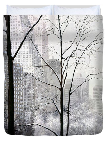 Central Park Vertical Duvet Cover