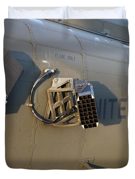 Chaff And Flare Dispensers On A U.s Duvet Cover by Timm Ziegenthaler