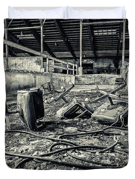 Chairs Undone Duvet Cover by CJ Schmit