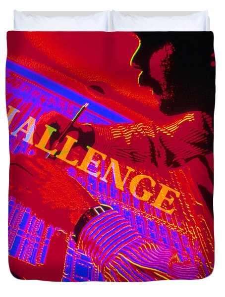 Challenge Duvet Cover by Jerry McElroy