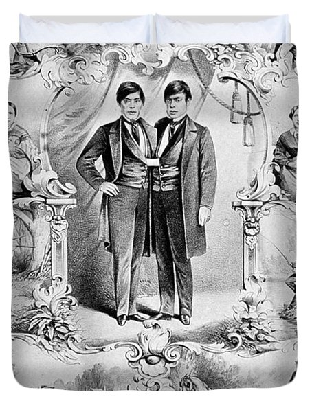 Chang And Eng Bunker, The Original Duvet Cover by Science Source