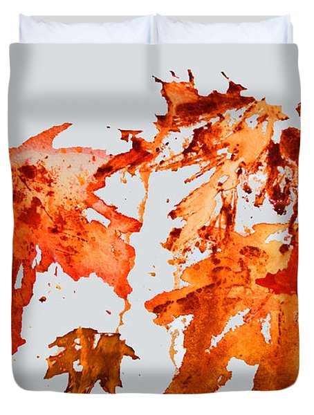 Changing Season Duvet Cover by Barbara McMahon