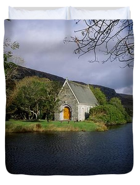 Chapel At Gougane Barra, Co Cork Duvet Cover by The Irish Image Collection