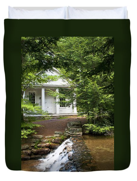 Chapel At Hickory Run State Park Duvet Cover