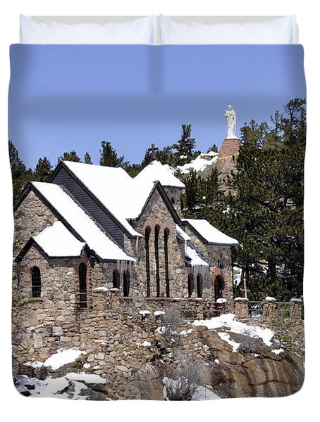 Chapel On The Rocks No. 3 Duvet Cover