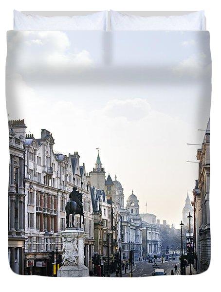 Charing Cross In London Duvet Cover by Elena Elisseeva