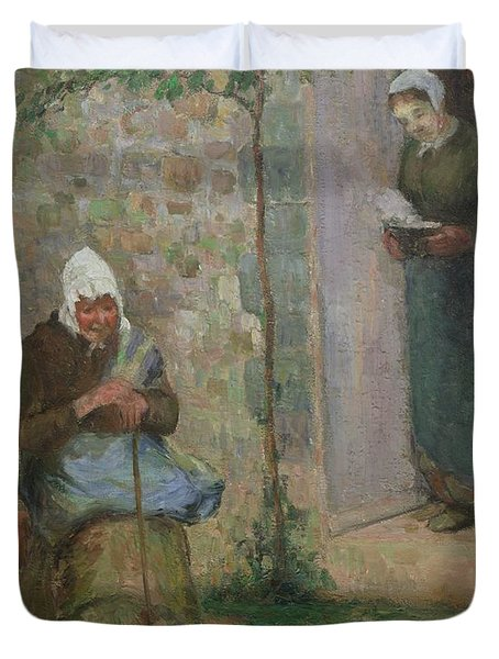 Charity Duvet Cover by Camille Pissarro