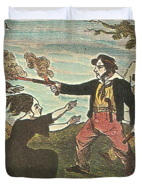 Charles Gibbs, American Pirate Duvet Cover by Photo Researchers