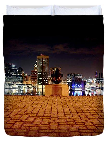 Charm City Skyline Duvet Cover