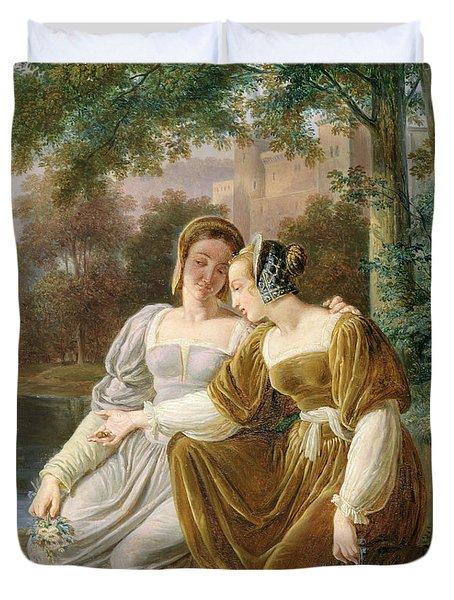 Chatelaines Duvet Cover by Pierre Henri Revoil