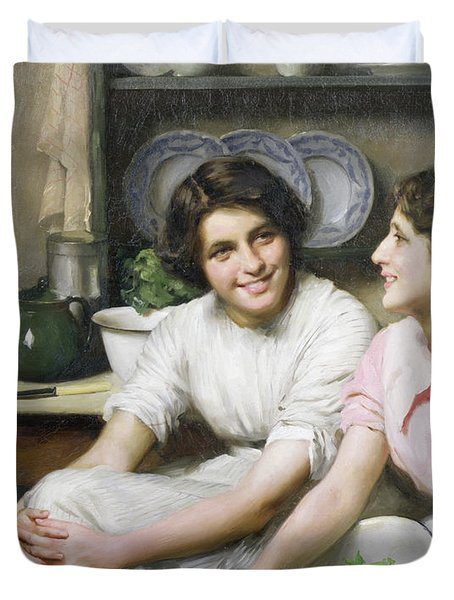 Chatterboxes Duvet Cover by Thomas Benjamin Kennington