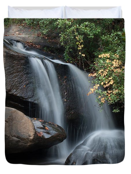 Duvet Cover featuring the photograph Chau-ram Falls by Lynne Jenkins
