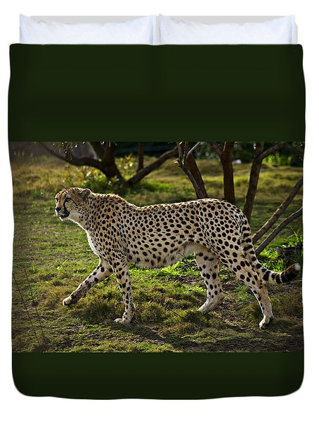 Cheetah  Duvet Cover by Garry Gay