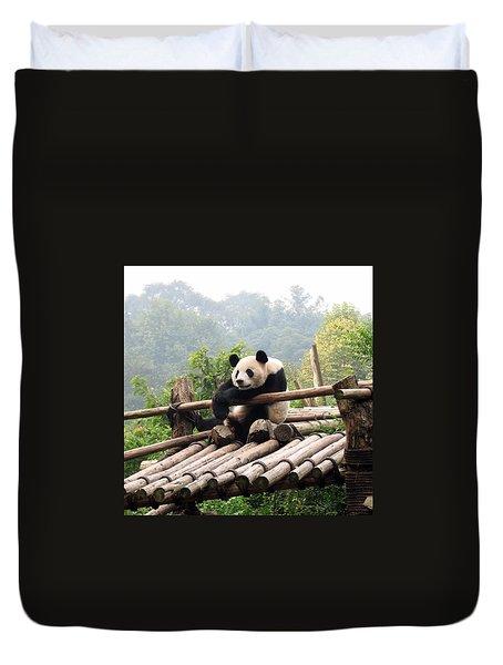 Chengdu Panda Duvet Cover by Carla Parris