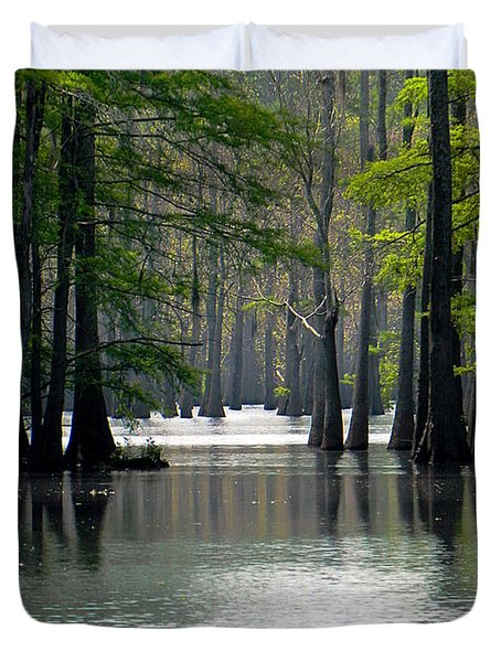 Duvet Cover featuring the photograph Cheniere Lake In Louisiana by Ester  Rogers