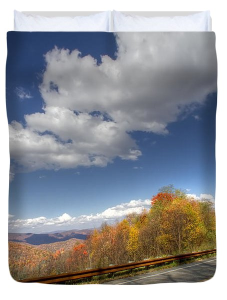 Cherohala Skyway Duvet Cover by Debra and Dave Vanderlaan
