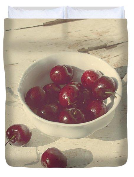 Cherries Still Life  Duvet Cover by Svetlana Novikova