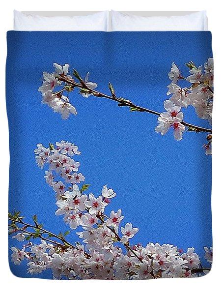Cherry Blossom Sky Duvet Cover by Peter Mooyman