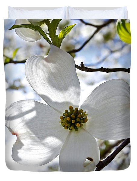 Cherry Blossoms I Duvet Cover by Glennis Siverson