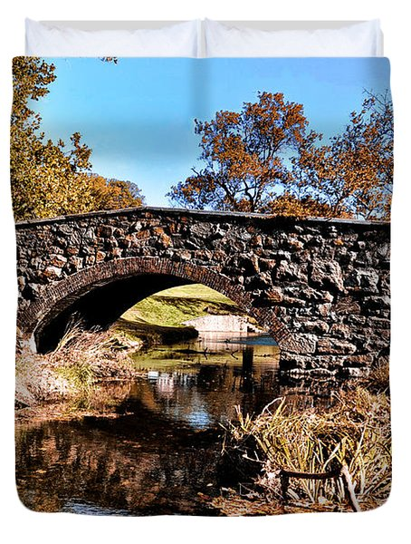 Chester County Bow Bridge Duvet Cover by Bill Cannon