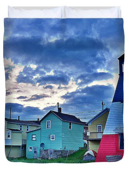 Cheticamp In Cape Breton Nova Scotia Duvet Cover by Joe  Ng