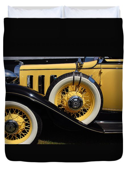 Duvet Cover featuring the photograph Chevrolet 1932 by John Schneider