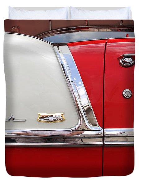 Chevy Belair Classic Trim Duvet Cover by Mike McGlothlen