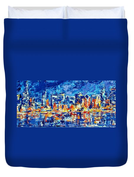 Chicago Lake Front Duvet Cover by Kat Griffin