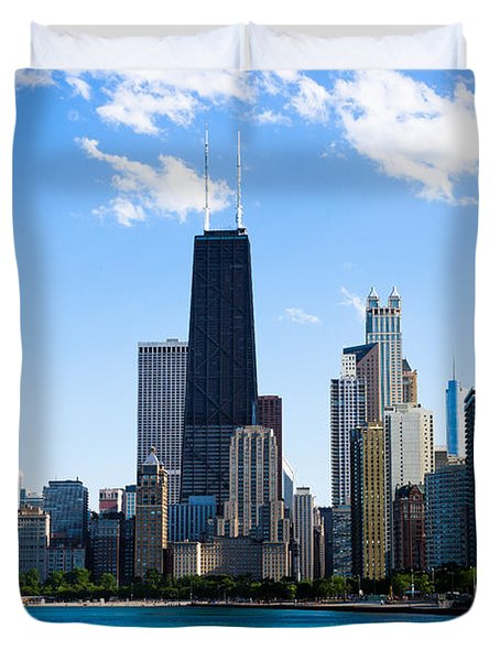 Chicago Lakefront With John Hancock Building Duvet Cover by Paul Velgos