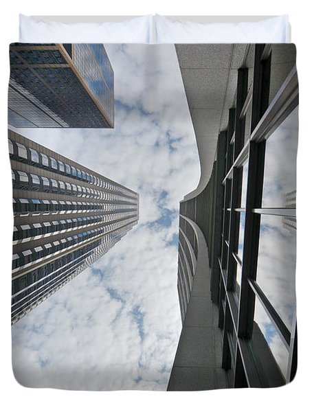 Chicago - Look Towards The Sky Duvet Cover by Christine Till