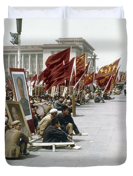 China: Cultural Revolution Duvet Cover by Granger