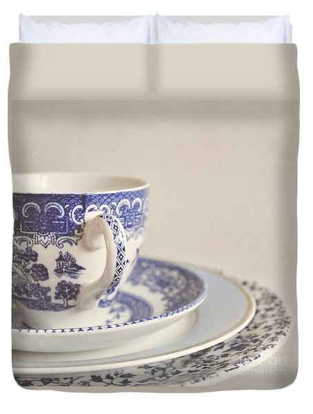 China Cup And Plates Duvet Cover