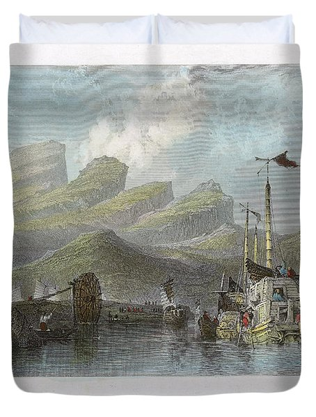 China: Mountains, 1843 Duvet Cover by Granger