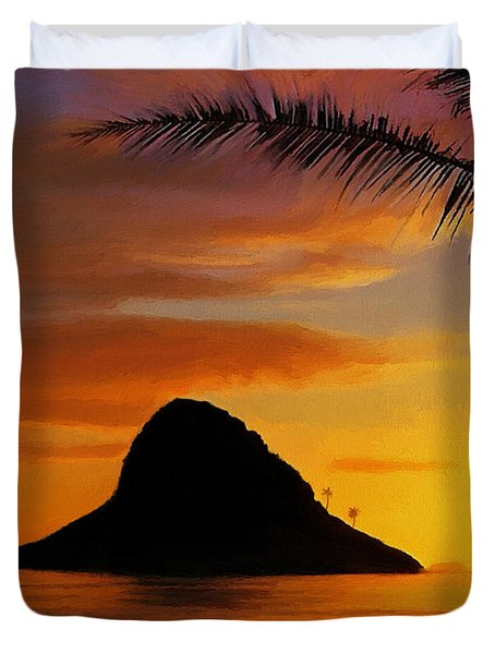 Chinaman's Hat Island Duvet Cover by Dale Jackson