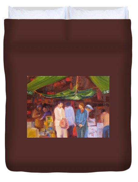 Chinatown  Vancouver Duvet Cover by Mohamed Hirji
