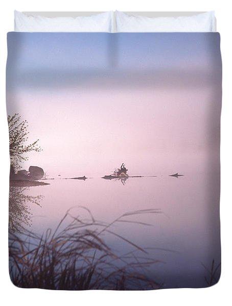 Chippewa River At Dawn Duvet Cover