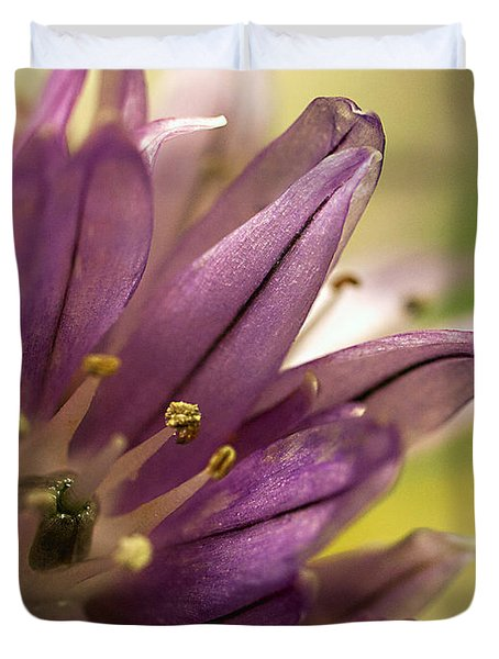 When  Chives  Blossom Duvet Cover