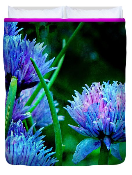 Chives For You Duvet Cover