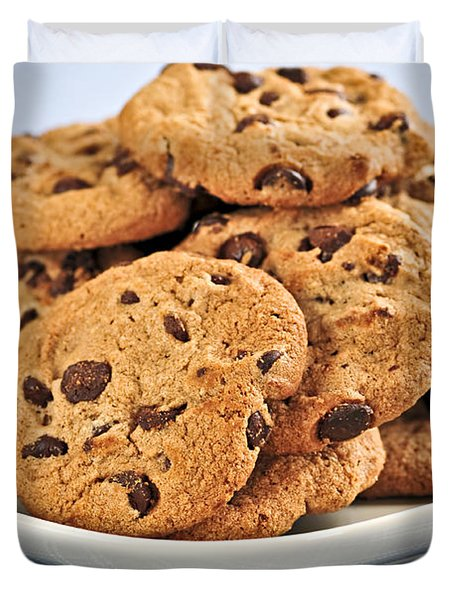 Chocolate Chip Cookies Duvet Cover by Elena Elisseeva