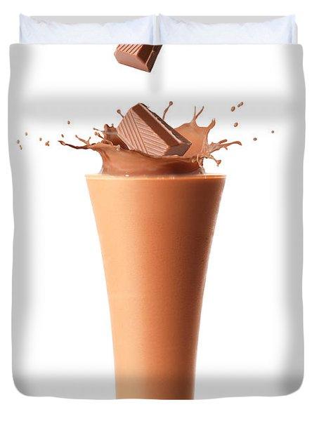 Chocolate Milkshake Smoothie Duvet Cover by Amanda Elwell