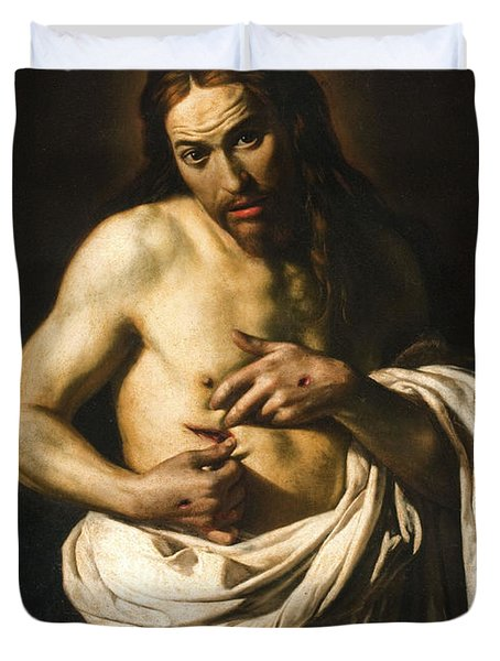 Christ Displaying His Wounds Duvet Cover